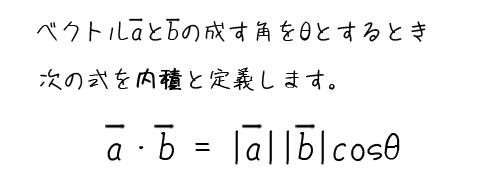 内積定義式